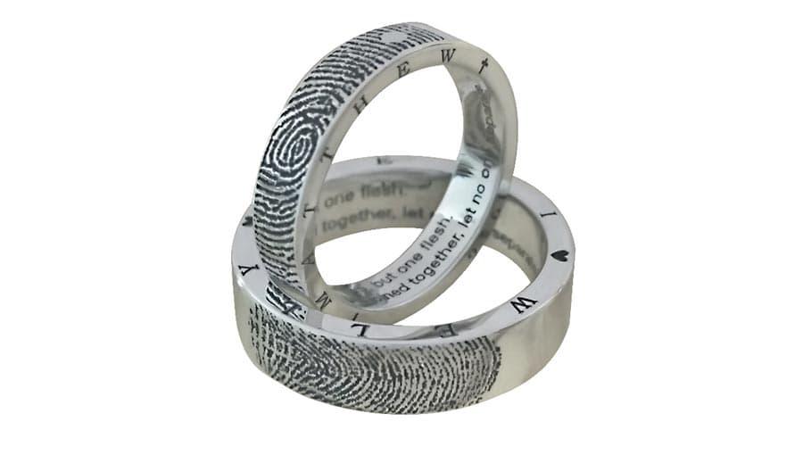 Лазерная маркировка на кольцах