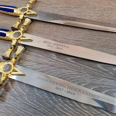 Гравировка на саблях и мечах