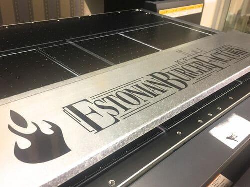 УФ печать на металле
