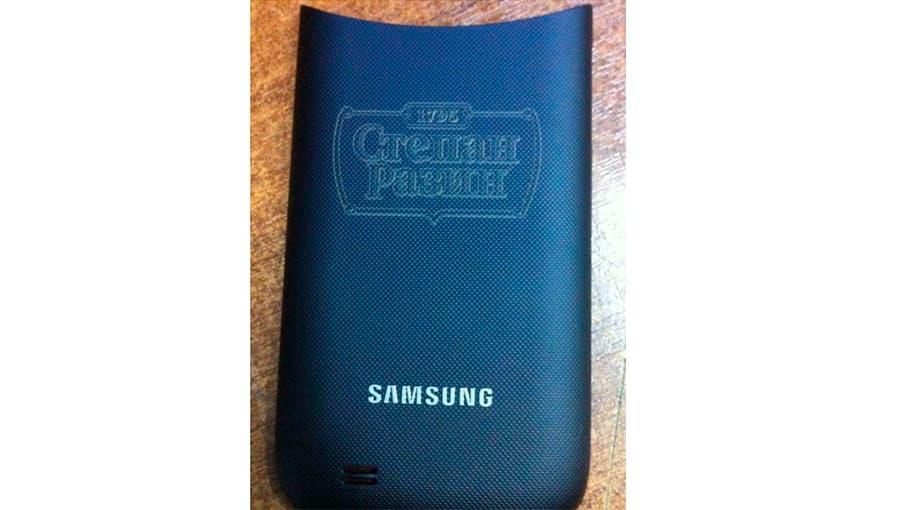Лазерная гравировка на сувенирном чехле для телефона