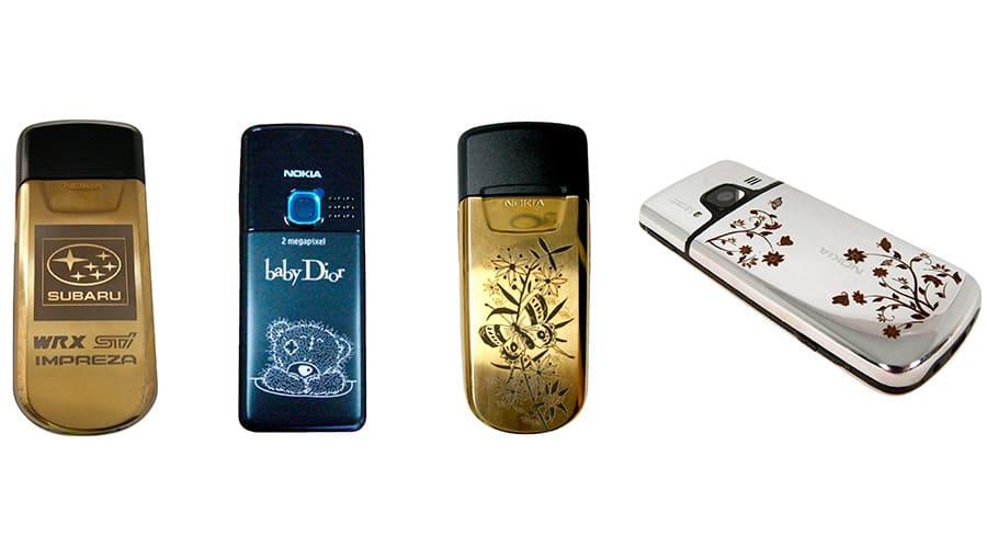 Лазерная гравировка на телефонах Nokia